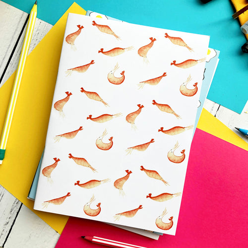 Shrimp A5 Unlined Notebook