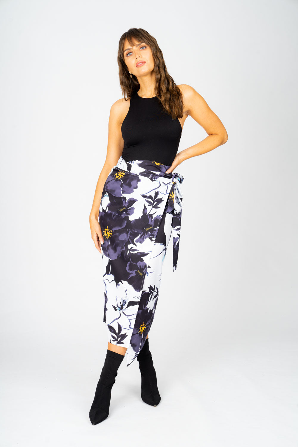 Georgie Wrap Skirt in Bloom
