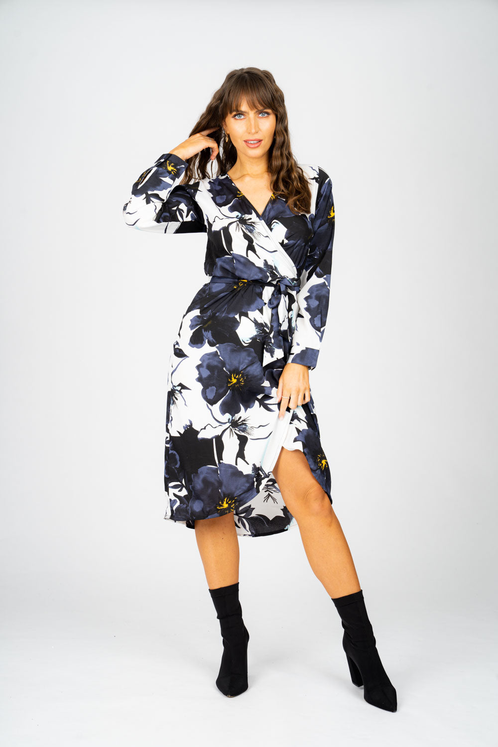 Ladies Floral Wrap Dress