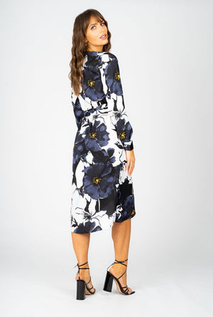 Noelle Wrap Dress in Bloom