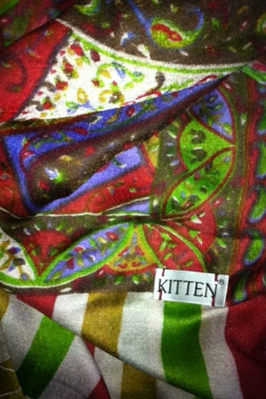 Kitten Beachwear multicolour silk scarf