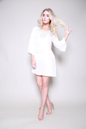 Dubai Silk Beaded Kaftan Top