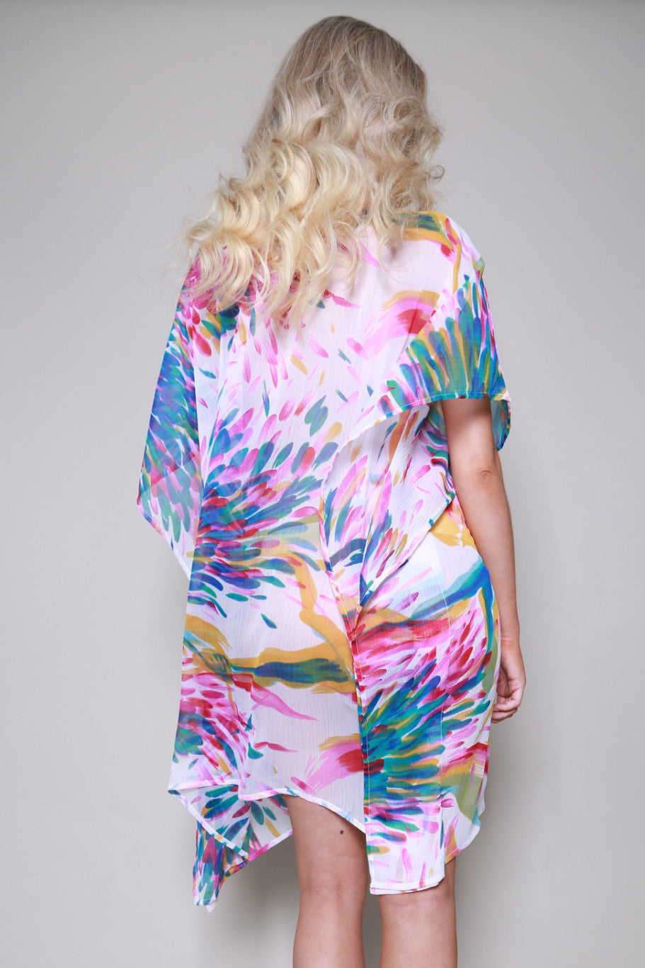 Barbados Deep V Printed Beach Kaftan
