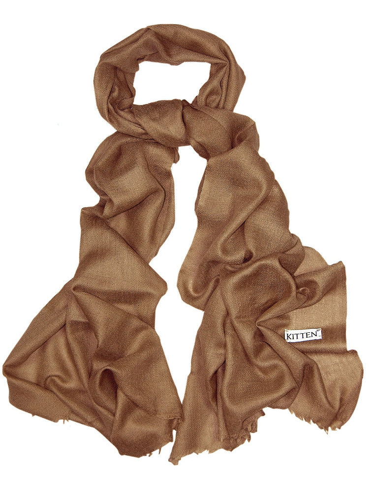 Gold lambswool luxury scarf