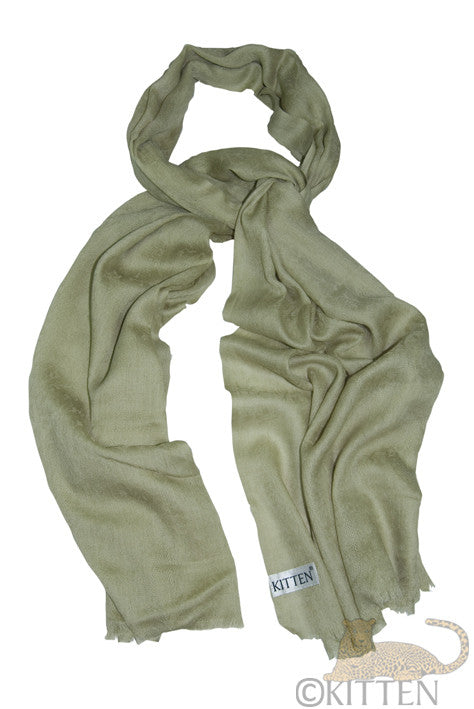 Soft pale green Pashmina