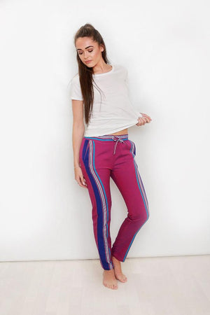 Purple Kenya Kikoy Pants