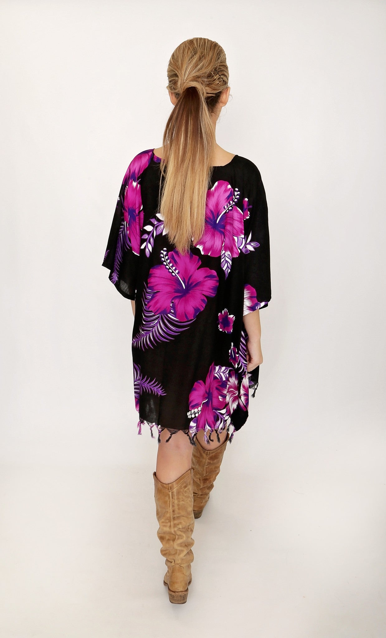 Purple Flower Power Festival Dress