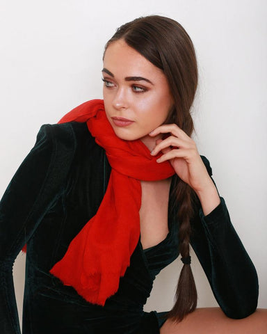 'Dorothy' Red Pashmina