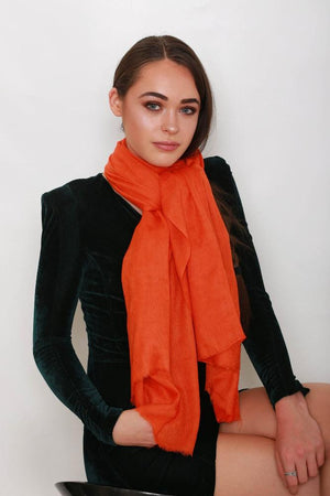'Squash' Orange Pashmina