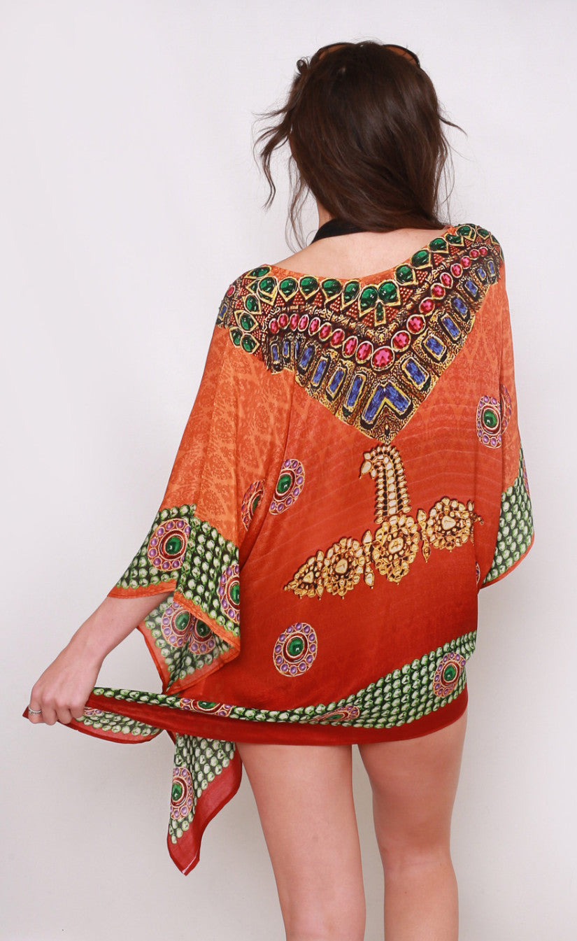 Saffron Kaftan Silk Top