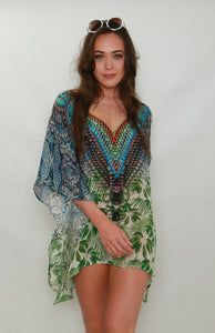 Grass is Always Greener Mini Kaftan / Kaftan Top