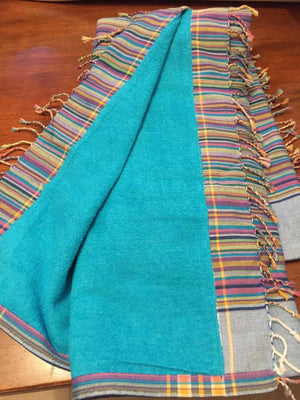 Kikoy Towel in Rainbow Stripes