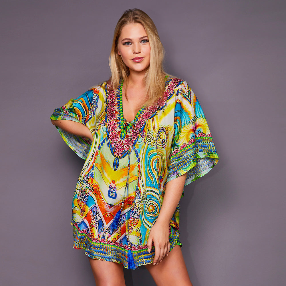 Kitten Beachwear Luciana Multicolour Kaftan