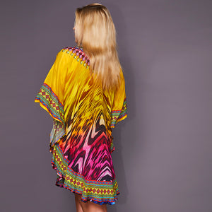Kitten Beachwear Bianca Multicolour Kaftan
