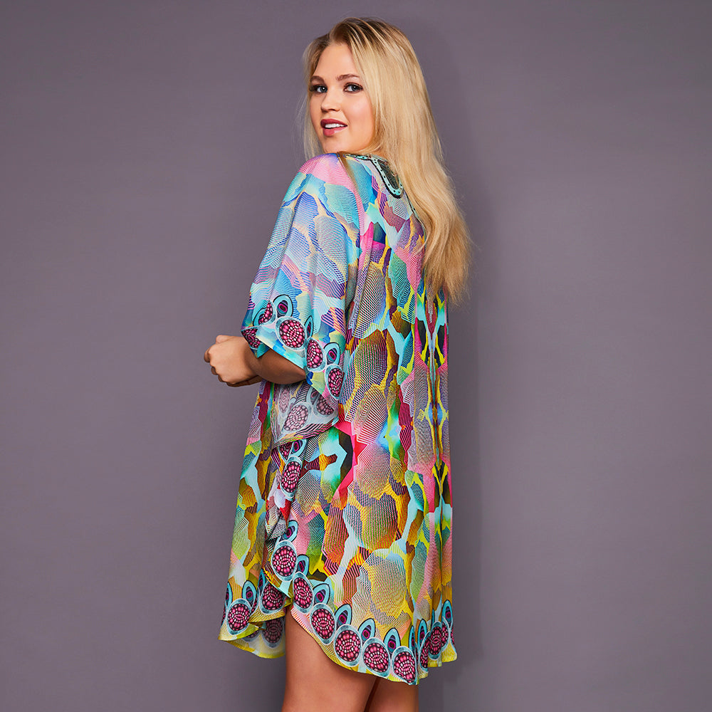 Kitten Beachwear Gigi Multicolour Kaftan