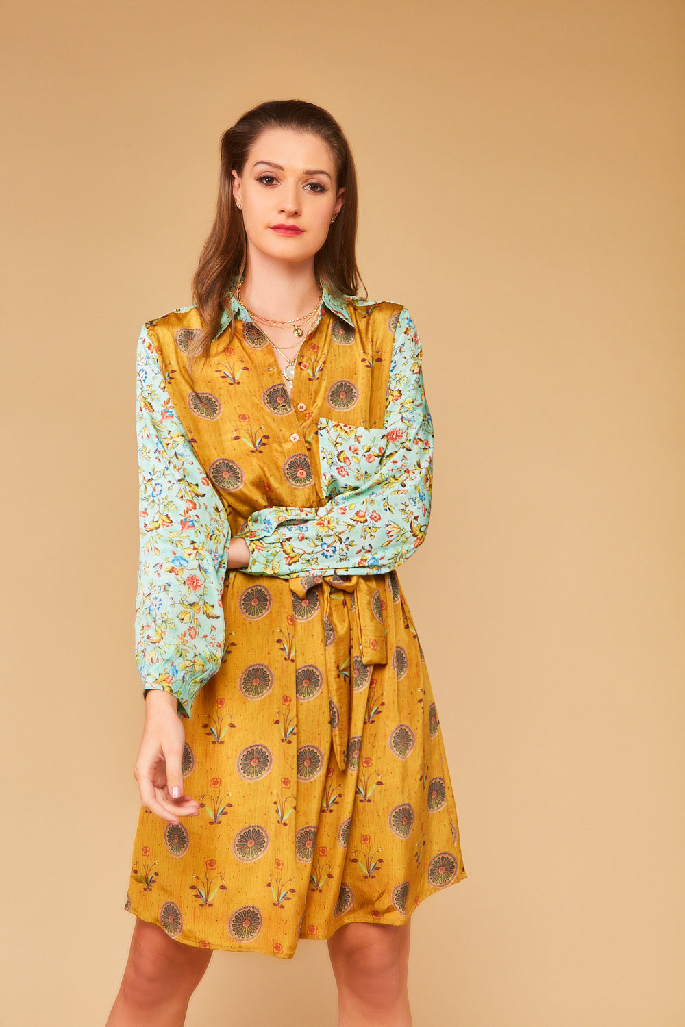 Darlene Shirt Dress in Carnaby Flower