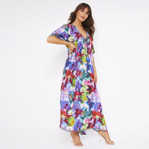 Kitten Beachwear Silk Maxi Kaftan
