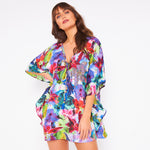 Kitten Beachwear Ishani Beaded Floral Kaftan