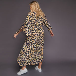 Roma Maxi Dress in Cheetah Print
