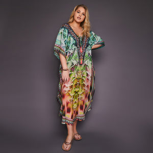 Kitten Beachwear Dina Multicolour Maxi Kaftan
