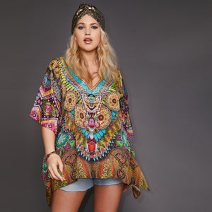 Kitten Beachwear Palolem Multicoloured Kaftan Top