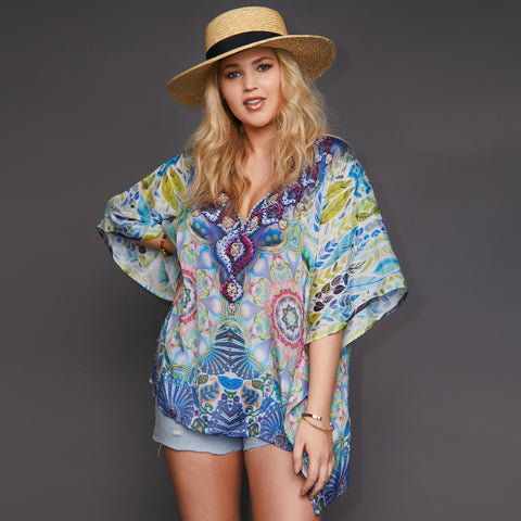 Kitten Beachwear Island Kaftan Top
