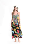 Boho Maxi in Tropical Fruit Print