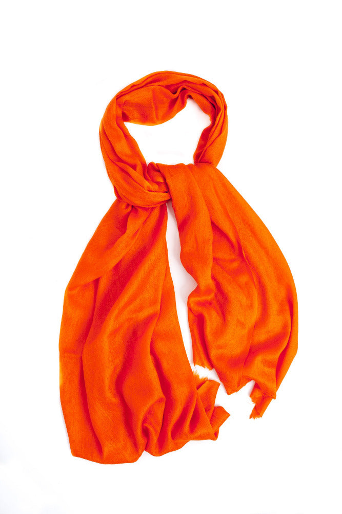 Squash Orange Pashmina