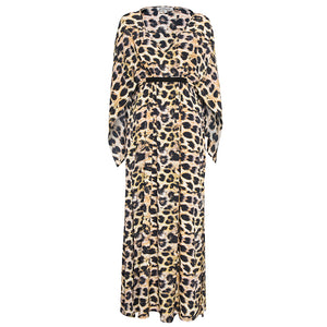 Roma Maxi Kimono Dress in Cheetah Print