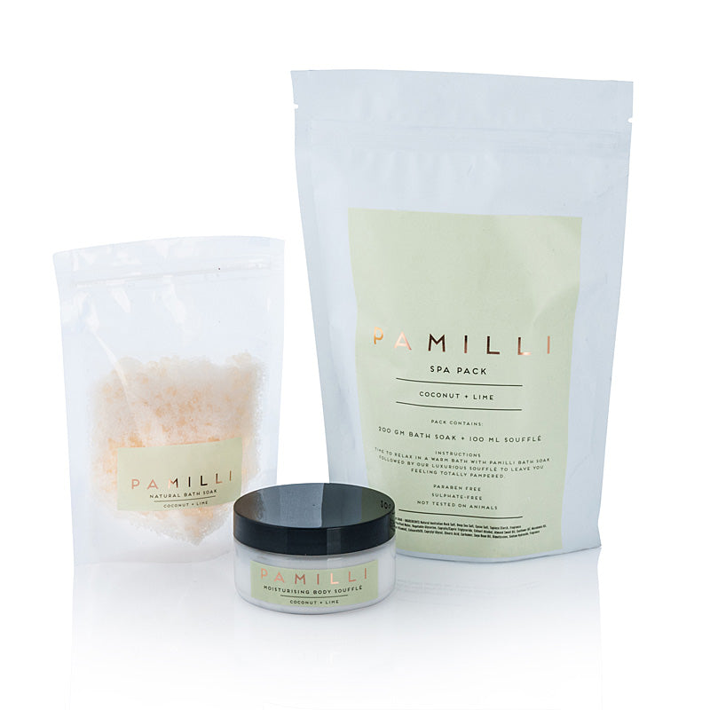 Pamilli Spa Pack  - Coconut & Lime  NEW!