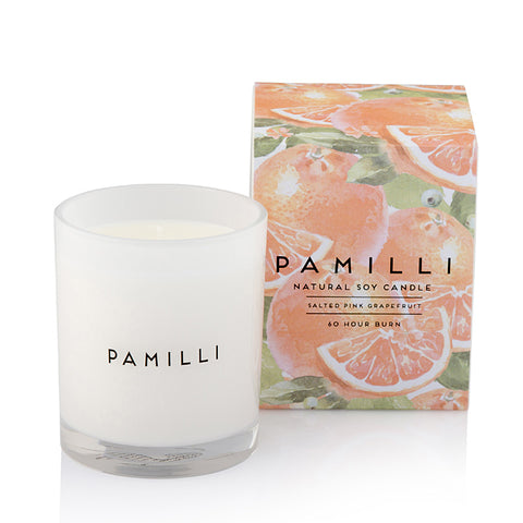 Natural Soy Candle - Salted Pink Grapefruit
