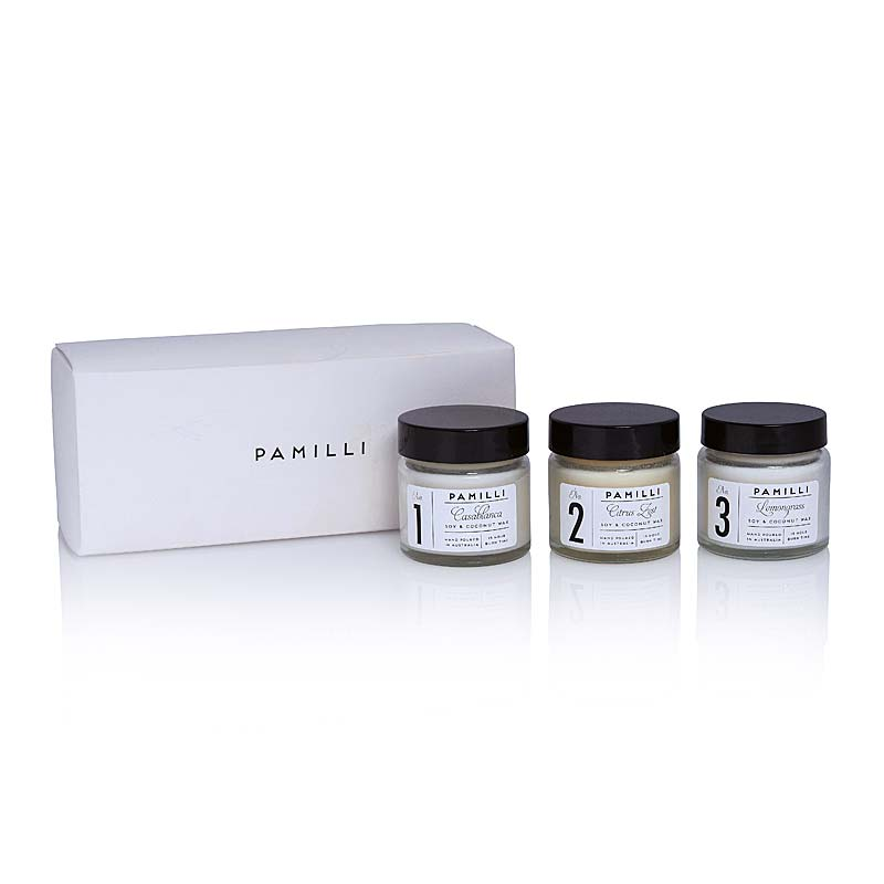 MONOCHROME MINI CANDLE TRIO