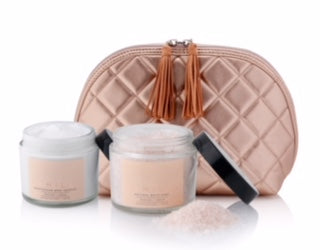 NEW! Wash Bag + Peaches & Cream Body Souffle + Soak