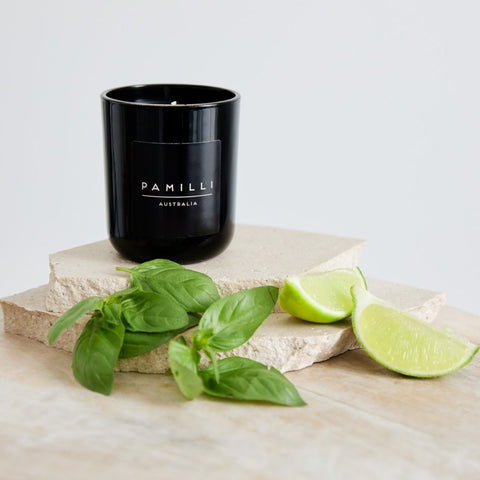 Ebony Candle - Basil & Lime