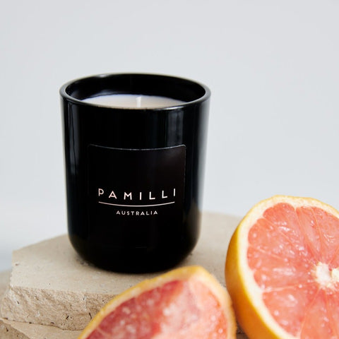 Ebony Candle - Salted Pink Grapefruit