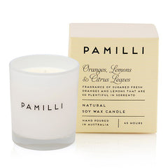 Natural Soy Candle (Italia Range) - Oranges Lemons & Citrus Leaves