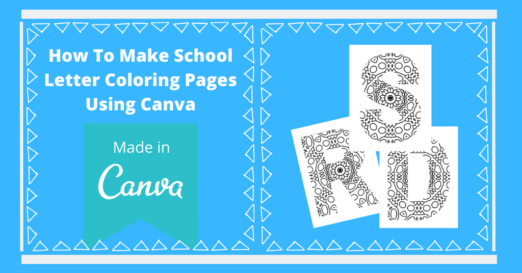 How To Make School Letter Coloring Pages in Canva