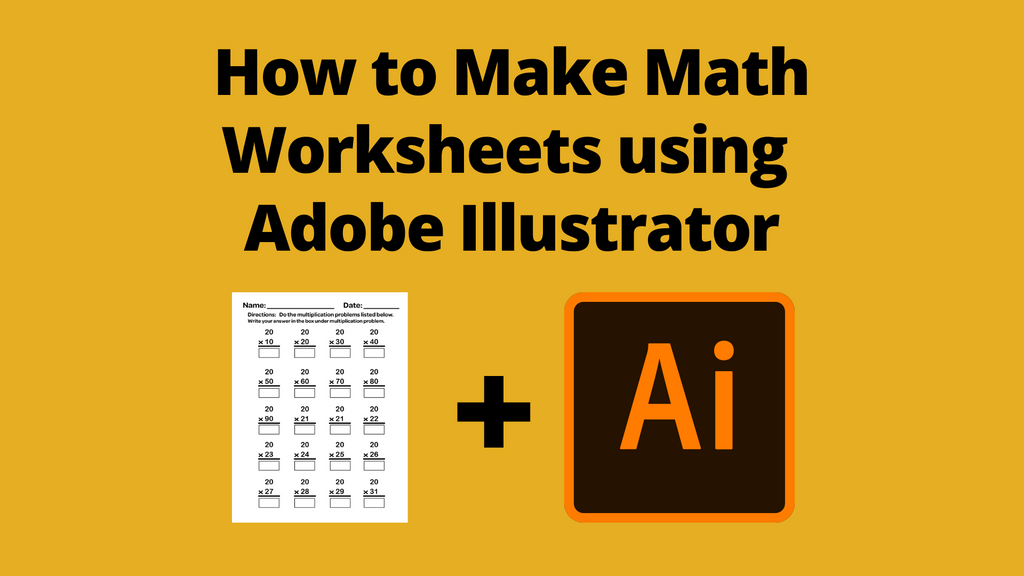 How to make Math Worksheets using Adobe Illustrator