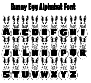 Spring in the Air! Easter Bunny Egg Alphabet Font