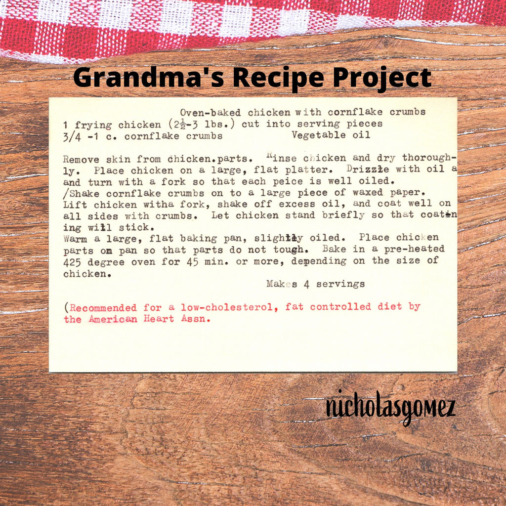 Serving Grandma's Favorite: Oven Baked Chicken with Cornflakes Crumbs.
