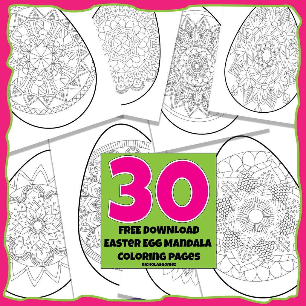 Easter Egg Mandala Coloring Pages Freebies