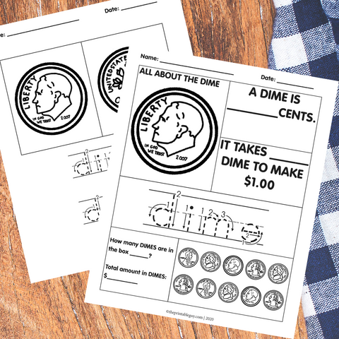 Learn US Coin Worksheet Pack