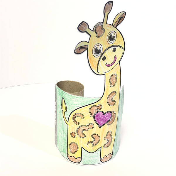 Giraffe Paper Tube Toddler Craft