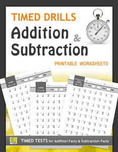 Timed Drills: Addition and Subtraction Printable Worksheets