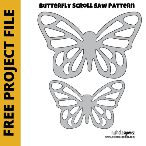 Simple Scroll Saw Butterfly Woodworking Pattern