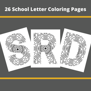 School House Letter Coloring Pages