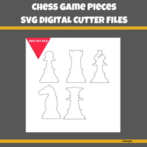 Chess Game Pieces SVG Cut FIle