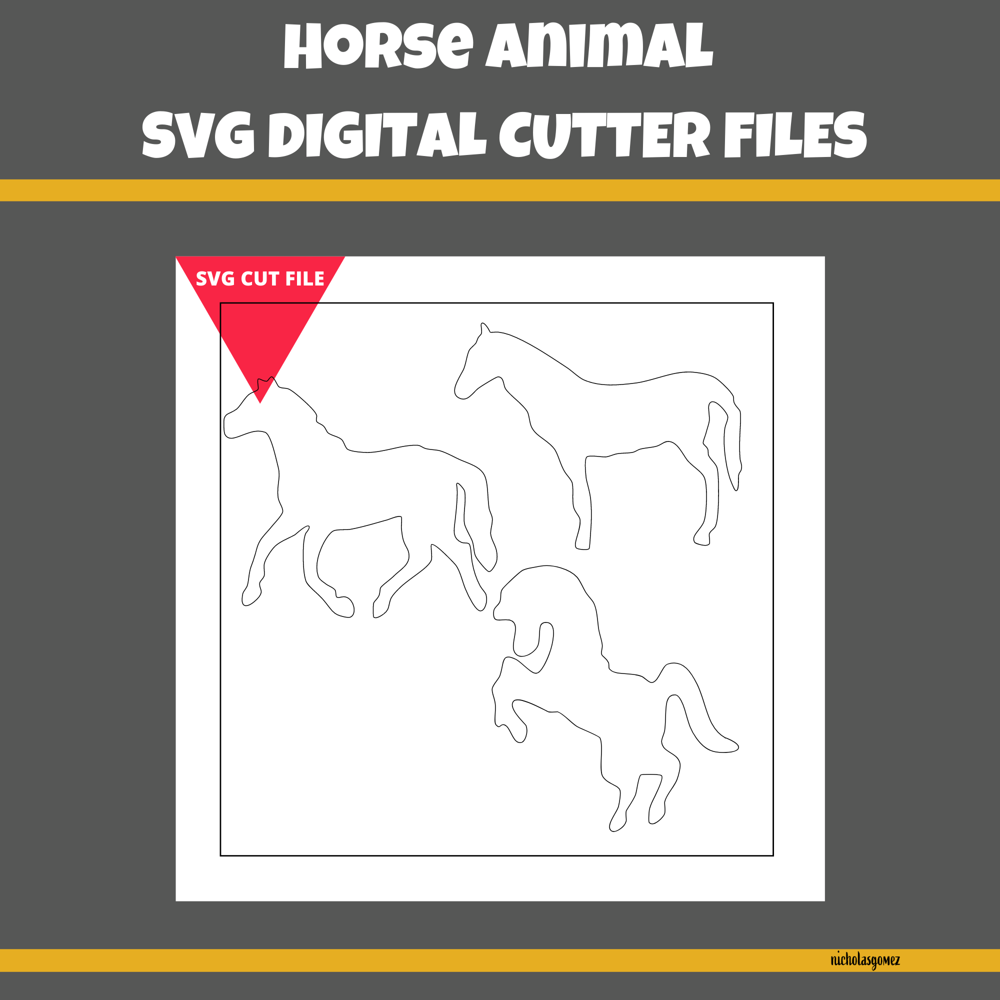 Horse Animal SVG Cut FIle