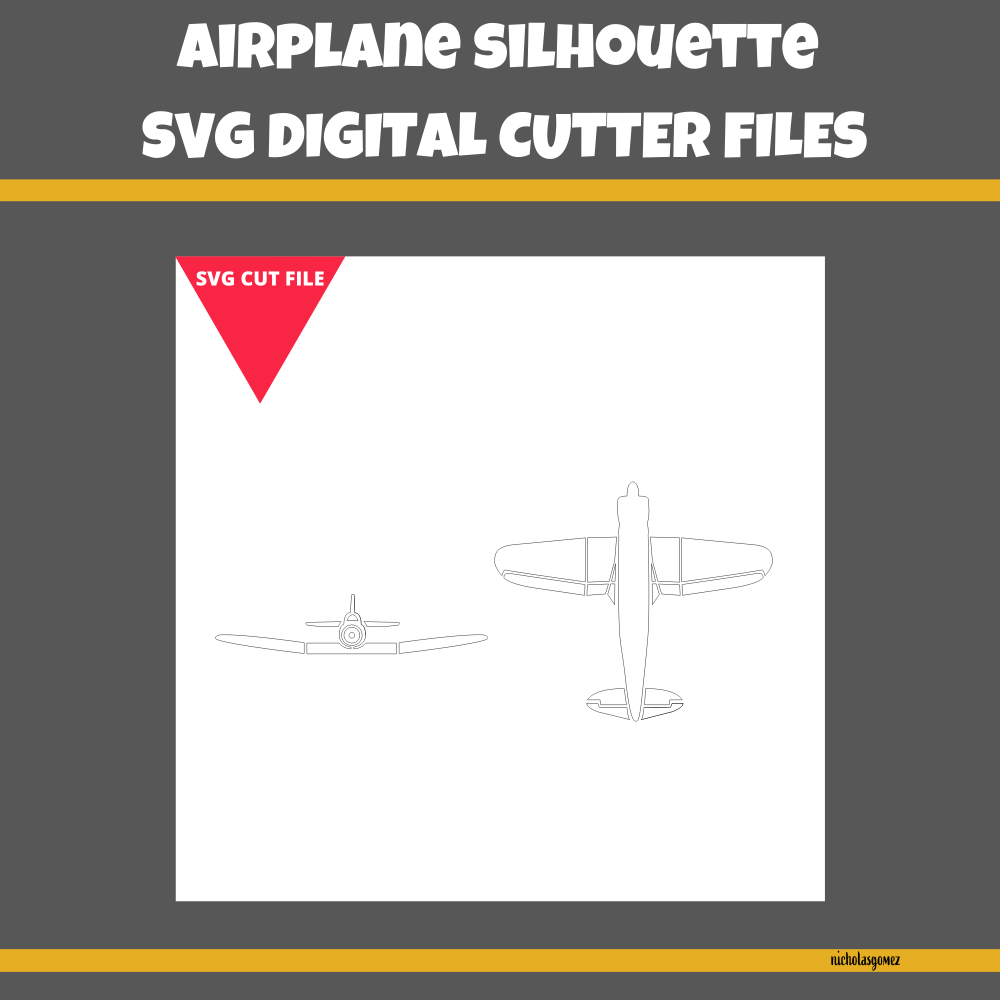 Airplane SVG Cut File