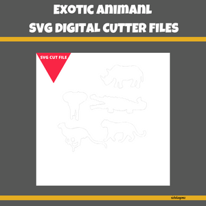 Exotic Animal SVG Cut File
